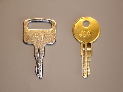Pair Of Jlg Lift Heavy Equipment Keys New Old Style Many Machine Applications