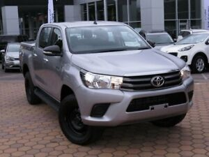 2017 Toyota Hilux GUN136R SR Double Cab 4x2 Hi-Rider Silver 6 Speed Sports Automatic Utility Belconnen Belconnen Area Preview