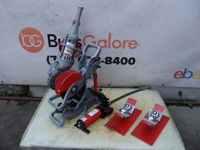 Ridgid 258 Hydraulic Pipe Cutter 2-8 Inch 700 Pipe Threader Rollers Great Shape