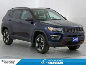 2018 Jeep Compass Trailhawk 4x4, Leather + Navi Group, Pano Roof
