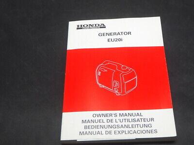 HONDA generator EU20I OWNER MANUAL MANUEL DE L'UTILISATEUR, używany na sprzedaż  Wysyłka do Poland