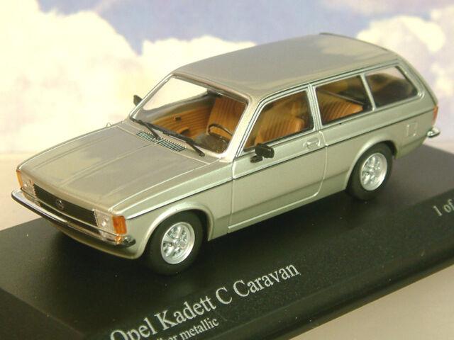 MINICHAMPS 1/43 DIECAST 1978 OPEL KADETT C CARAVAN IN SILVER METALLIC 400 048111