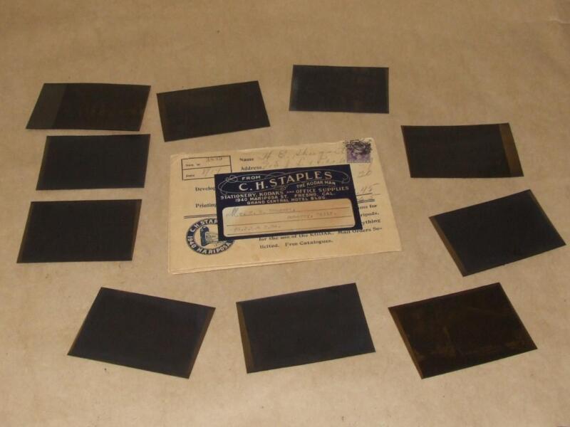 10 Antique 1914 Surveyers on Site Original Negatives in Original Kodak Folder