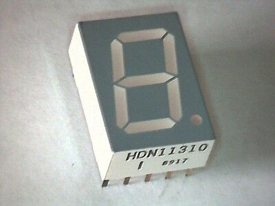 7-Segment Anzeige LED Display 13mm HDN11310 Super ROT gem. Anode