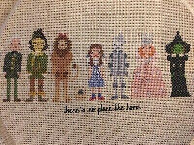 wizard of oz characters handmade cross stitch](Wizard Of Oz Characters)