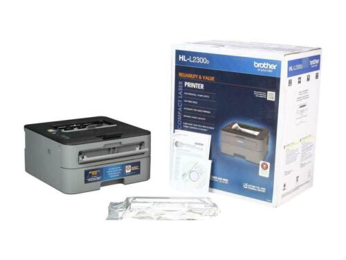 Brother HL-L2300D Monochrome Compact Personal Laser Printer with Duplex Printing