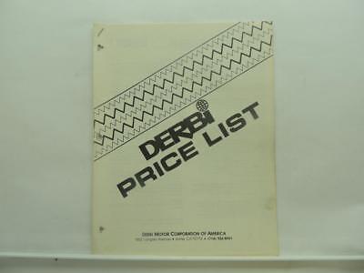 Derbi Motor Corporation Of America Price List Brochure Catalog B356