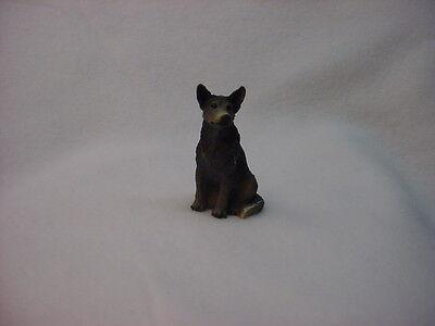 Australian Cattle Dog Puppy (AUSTRALIAN CATTLE DOG Blue Heeler puppy TiNY FIGURINEresin MINIATURE Mini Small )