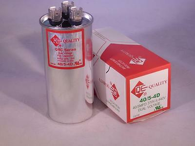 Dual 405 Mfd 370-440vac Electric Motor Run Oil Filled Capacitor Uf Hvac