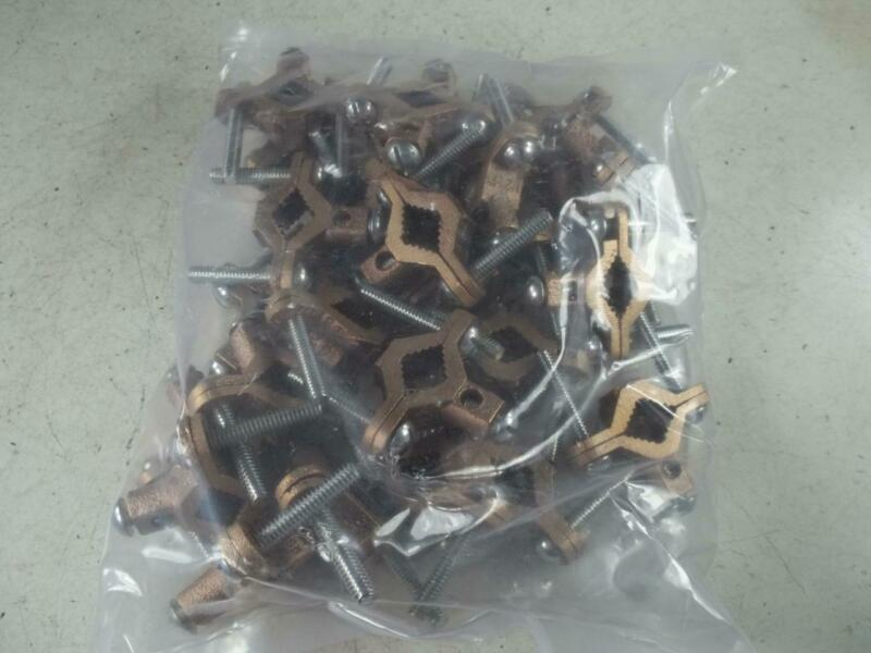 25 NEW ALLIED BOLT - BRONZE GROUND CLAMP 1/2 TO 1 INCH UL LISTED
