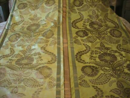 DESIGNERS GUILD ROQUELAIRE GOLD MORROCCAN STYLE SILK CURTAINS Austral Liverpool Area Preview