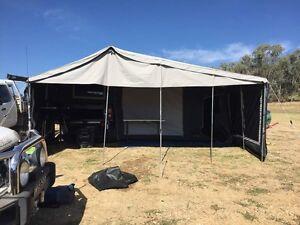 2016 Black Series soft floor camper trailer Orange Orange Area Preview