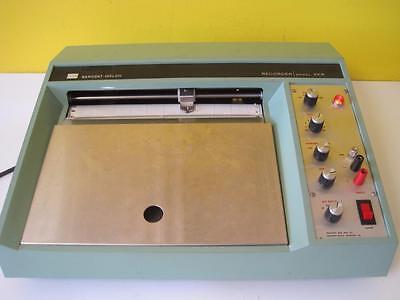Sargent-welch Scientific Chart Recorder Xkr Adjustable Mv Span S-72200-20