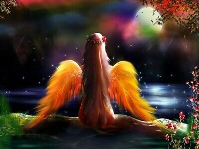 US Seller- modern home decor fantansy fairy with angel wing art poster - Angel Wing Decorations