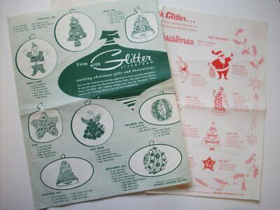 50's? 60's? Franken Trimming co Christmas ornaments decor supply idea lists G5 - 50s Christmas Decorations