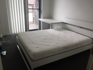 Queen Bed with Mattress Homebush West Strathfield Area Preview