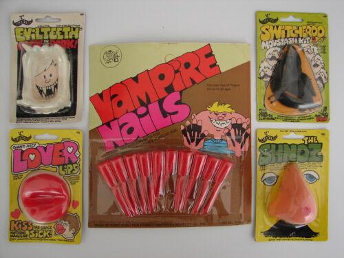 4 LOT of 1977 Imagineering Blood Vampire Evil Teeth Lips Shnoz Johnson Smith Co