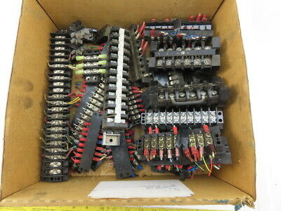 Assorted Terminal Block Sections Mixed Lot Of 40 Pcs.