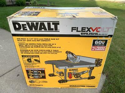 DeWalt FLEXVOLT 60-Volt MAX Lithium-Ion Cordless Brushless 8-1/4 Table Saw