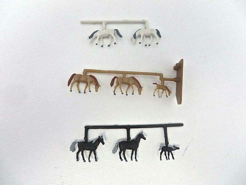"Merten T2408 TT Gauge Figures ""Set of 8 Horses"" New Old Stock LOW SHIPPING"