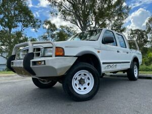 2002 Ford Courier UN XL White 5 Speed Manual Dual Cab Kingston Logan Area Preview