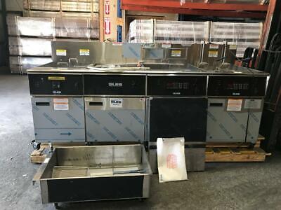 New Giles 3 Bay Electric Deep Fryer W Dump Station Eof-24 Restaurant Equipment