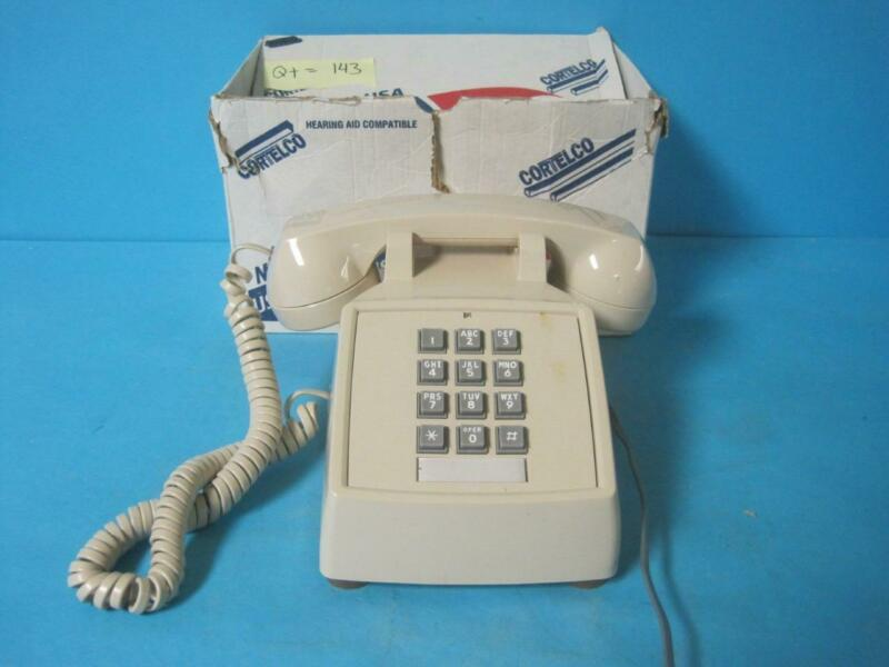 CORTELCO CORDED PHONE TELEPHONE DESK 250044-MBA-20M W/ RINGER VOLUME CONTROL