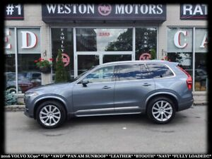 2016 Volvo XC90 T6*AWD*PAN AM SUNROOF*LEATHER**NAVI*FULLY LOADED