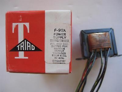 Triad Power Supply Transformer F-90x Sec 10-20 40vac Ct .1 A Pri 115 V Rectifier