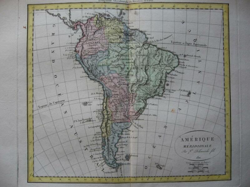1811 - DELAMARCHE - Map SOUTH AMERICA