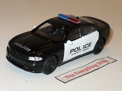 WELLY 2016 DODGE CHARGER R/T POLICE CRUISER 4.75 INCH BLACK WHITE USA FREE SHIP