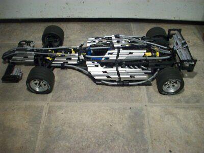 Vintage rare Lego Silver Champion F1 Racer 8458 mechanical V10 engine 2000