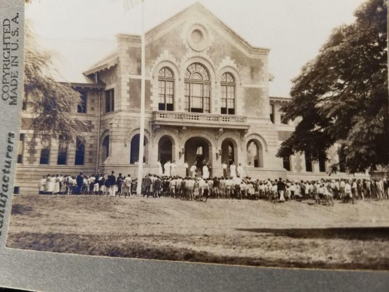 The Royal School Honolulu Hawaii 1914 Stereoview Photograph Keystone Company