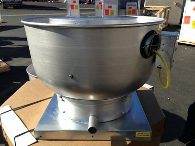 Centrifugal Upblast Exhaust Fan 1800 Cfm 1567 Rpm 0.500 Hp 1 Phase 115 V
