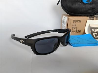 b8c0504bb0 New Costa del Mar Trevally Polarized Sunglasses Black Gunmetal Gray 580P  580 P