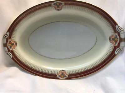 Narumi Empress Hand Painted Occupied Japan Large Platter  Vintage