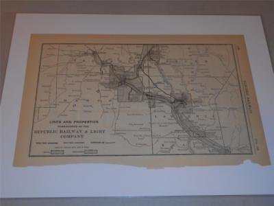 Original Map Of The Lines   Properties Republic Railway   Light Company 1917