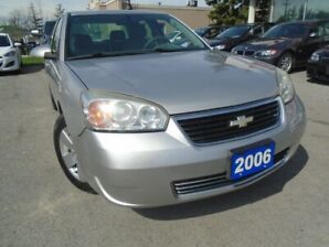 2006 Chevrolet Malibu LT NO ACCIDENTS , LOW KM, 4 NEW TIRES SAFETY INC