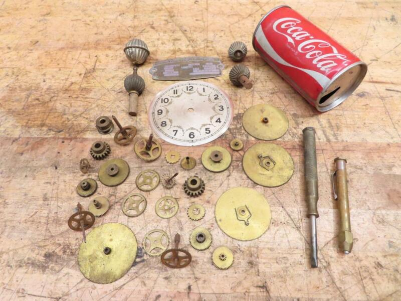 Lot of Vintage Antique Brass Gears Clock Parts SteamPunk Art Hardware