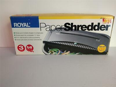 Royal 3 Sheets Paper Shredder Jaws Js1100 For Home Office New In Box