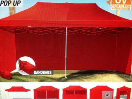 3x6m Red Outdoor Gazebo Marquee Canopy Shade Pop Up AR3