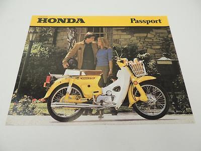 Honda Brochure (NOS 1980 C70 Passport Honda Dealer Brochure)