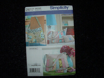 SIMPLICITY #2617 CRAFT TOTE BAGS HAND BAGS PURSE SEWING PATTERNS