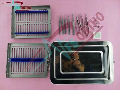 Hand Surgery Basic Set Of Micro Surgical Instruments Stainless Steel