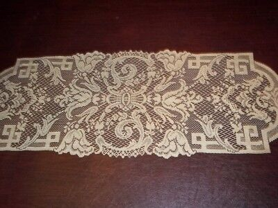 LACE GOLD TABLE RUNNER 36 X 14 ABSTRACT DESIGN ACCENT HOME DECOR TTRA585 - Gold Lace Table Runner