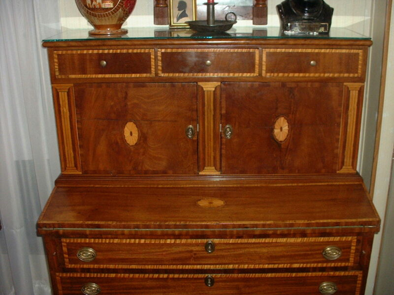 Rare Newberyport Federal Broken Column Blind Door Secretary (1780