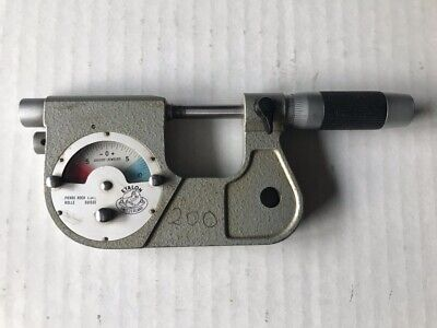 Tested Etalon 0-1 Inch Indicating Outside Micrometer Res 0.000050