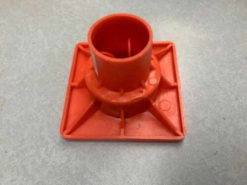 Rebar OSHA Caps - #3 - #8 Impalement Safe, Flat Top, Steel Plate, BOX OF 25
