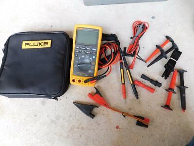 Fluke 789 Processmeter Mulitmeter Meter With Lots Of Leads