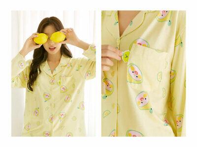 Kakao Friends Lemon Terrace Pajama Women Free Size Sleepwear Set Apeach